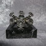 BC Forgrener Metal, sort marmor. Højde : 100 mm. Dkr : 475,00