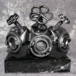BC Forgrener Metal, sort marmor. Højde : 150 mm. Dkr : 900,00