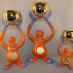 SJOV NR 15. Champion Figur Plast/Metal.  Højde : 240 / 370 / 440 mm. Dkr : 175,00 / 250,00 / 325,00